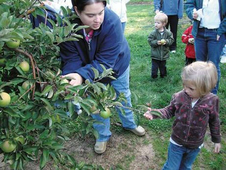 Leipprandt Orchards had pint-sized visitors Tuesday.