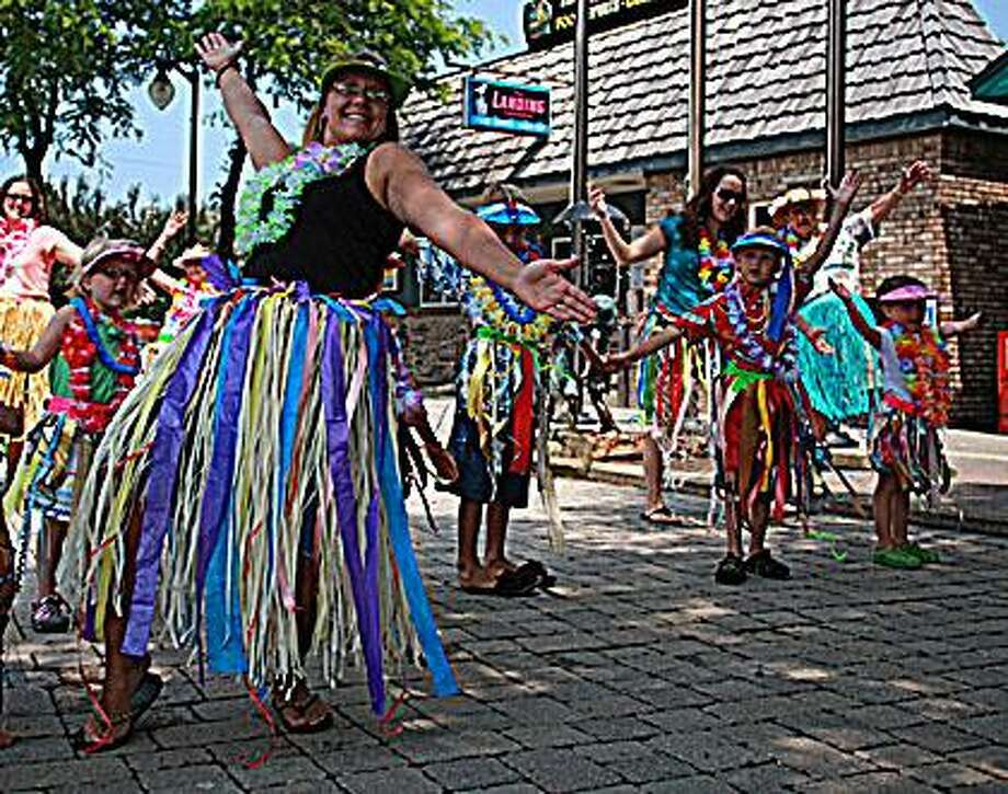 A parade and hula dance was performed in Port Austin.