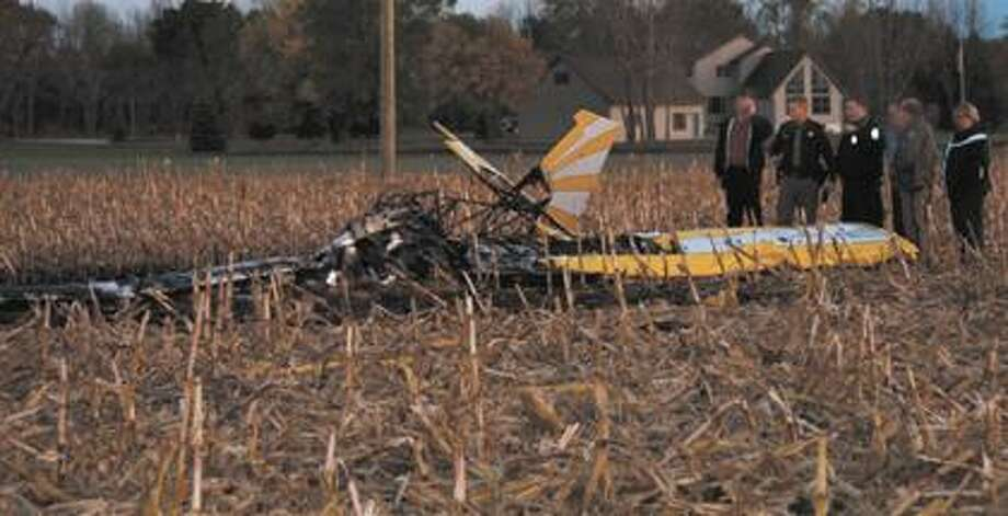 This is the remains of the aircraft that crashed Monday.