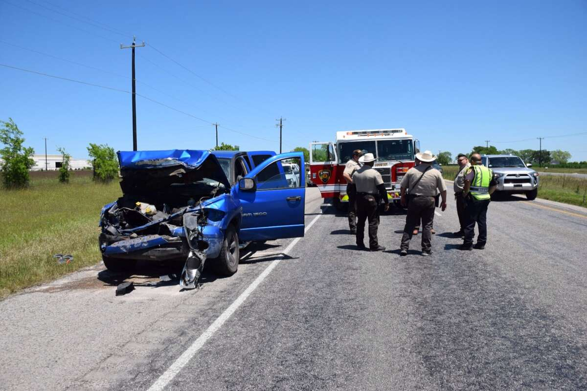 Law Enforcement officials investigate a crash involving five people, four of them children, in west Bexar County.