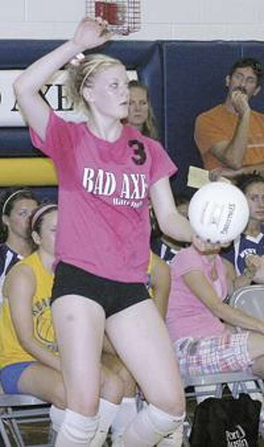 Bad Axe's Samantha Breault recently inked a volleyball scholarship with Saginaw Valley State University.