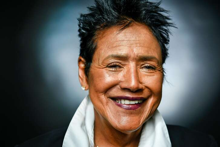 Former Black Panther Party chair Elaine Brown poses for a portrait at the Oakland Museum of California in Oakland, CA Friday, April 22, 2016.