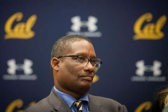 University of Berkeley Athletics Director Mike Williams look after he and Under Armour CEO Kevin Plank announced their  new 10 year apparel agreement starting on July 01, 2017 to outfit athletes campus wide  in UC Berkeley, California, USA 22 Apr 2016. (Peter DaSilva/Special to The Chronicle)