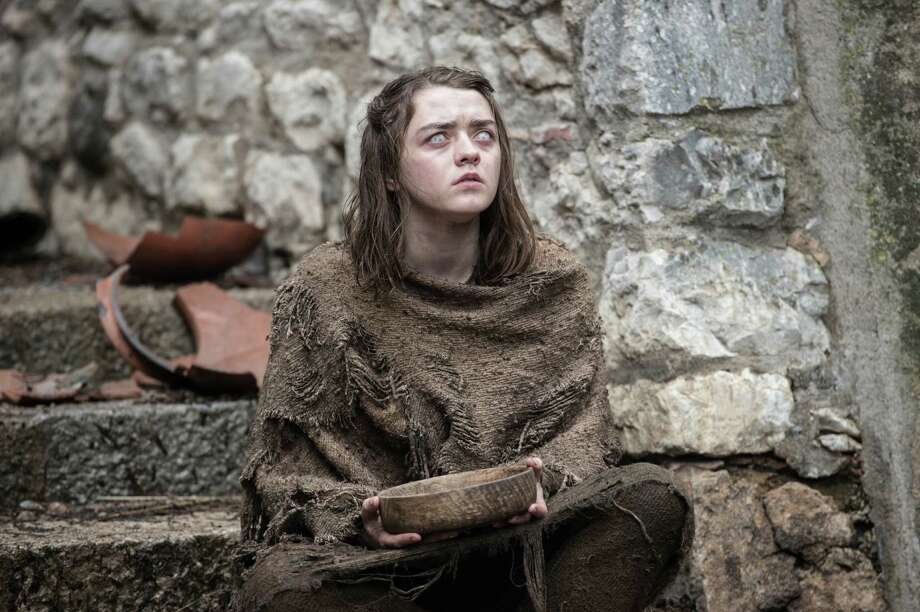 "This image released by HBO shows Maisie Williams as Arya Stark in a scene from, ""Game of Thrones,"" premiering its sixth season on Sunday at 9 p.m. (Macall B. Polay/HBO via AP) Photo: Macall B. Polay, HONS / HBO"