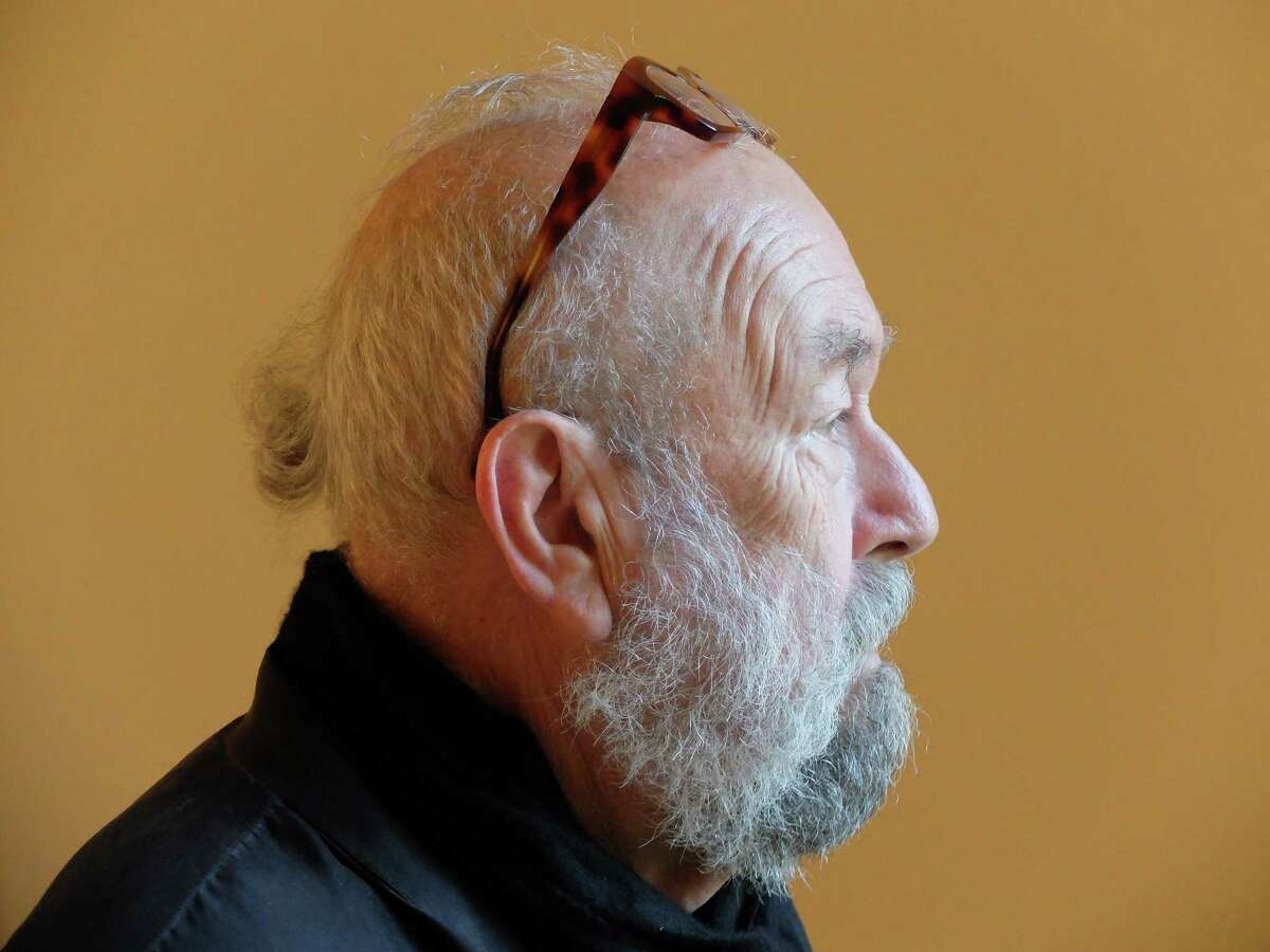 The artist Michael Tracy, 72, at Hiram Butler Gallery on April 3, 2016.