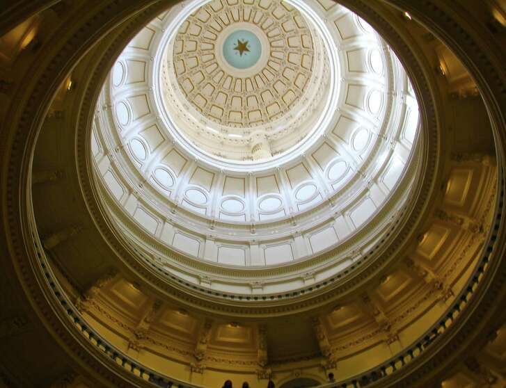 The rotunda in the State Capitol building, Austin