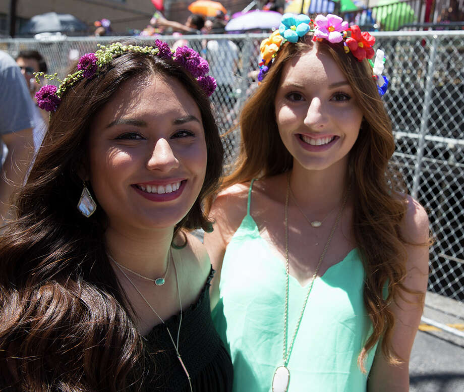 Here is your parade route view of today's Battle of Flowers. Check out all the queens, bands, floats and parade goers who filled downtown for the annual event, Friday, April 22, 2016. Photo: By B. Kay Richter, For MySA.com