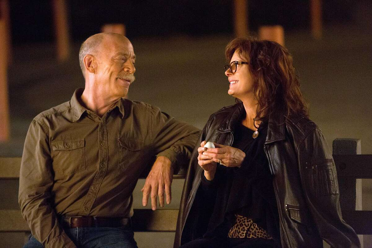 This image released by Sony Pictures Classics shows J.K. Simmons, left, and Susan Sarandon in a scene from