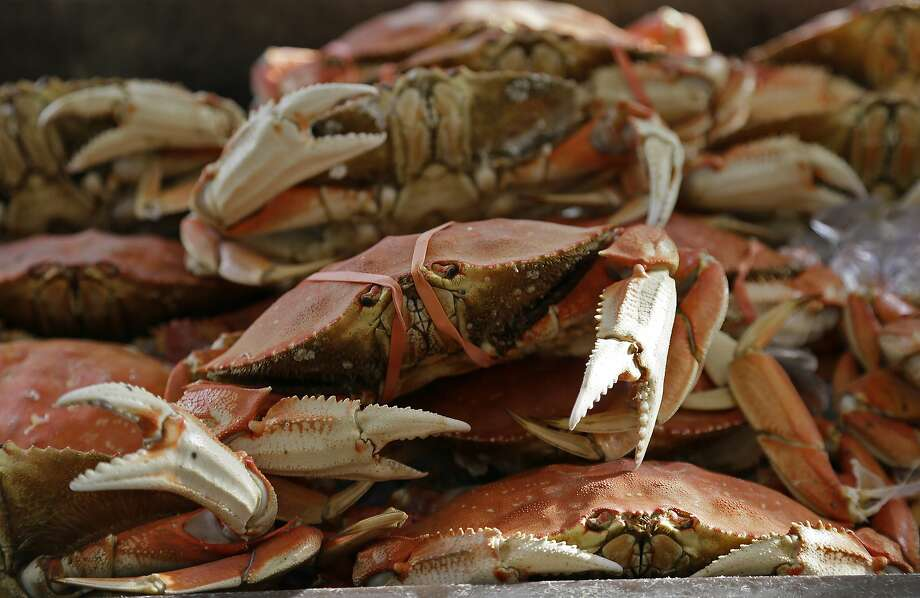 Imported Dungeness crabs are displayed for sale at Fisherman's Wharf, Thursday, Nov. 5, 2015, in San Francisco. Photo: Eric Risberg, Associated Press