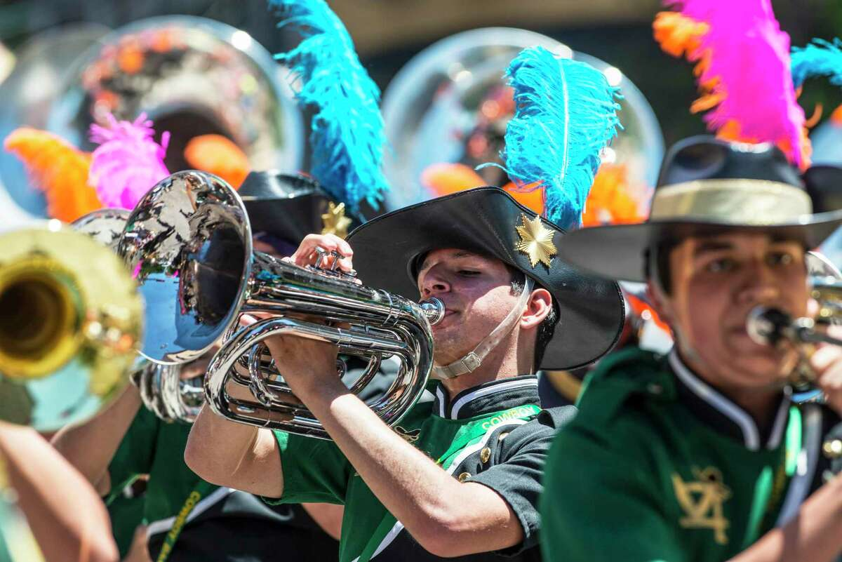 The Battle of Flowers Association announced this week that the parade will be a part of the citywide Fiesta celebration that was rescheduled this year from April to November. High school marching bands from across the state entertain the crowds.