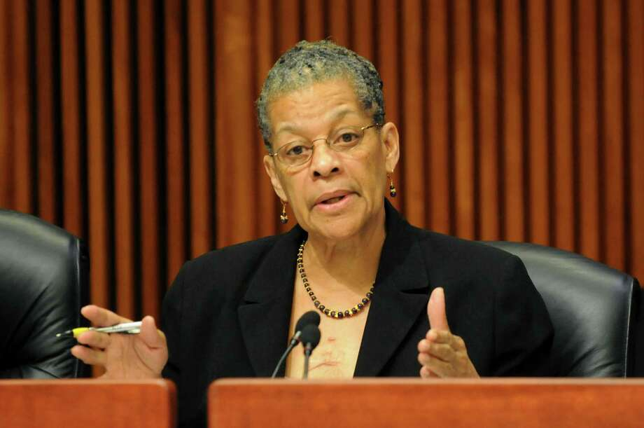 Sen. Ruth Hassell-Thompson questions Gail Prudenti, chief administrative judge, during a joint budget hearing on public protection on Wednesday, Feb. 5, 2014, at the Legislative Office Building in Albany, N.Y. (Cindy Schultz / Times Union archive) Photo: Cindy Schultz / 00025640A