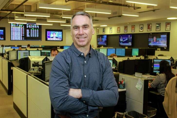 Dynegy CEO Bob Flexon on the Dynegy Trading Floor. (For the Chronicle/Gary Fountain, April 15, 2016)