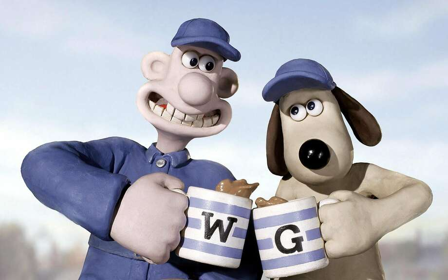 "**FILE**This undated file photo originally provided by DreamWorks, shows Wallace and Gromit the stars of ""Wallace & Gromit: The Curse of the Were-Rabbit."" After they won a fourth Oscar for their creator, fans in the pair's hometown called Tuesday, March 7, 2006, for a statue to be erected of the balding cheese lover and his long-suffering canine companion.A local councilor in Bristol,  where Nick Park and Aardman Animations created the now-famous duo, said it was time to recognize the contribution that Wallace and Gromit have made to the city in southwest England (AP Photo/DreamWorks) Photo: AP"