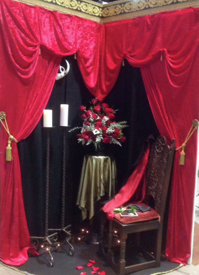 "The Garden Club of New Milford recently took home two wins at the recent 2016 Connecticut Flower Show held at the Hartford Convention Center. The club entered a ""Phantom of the Opera"" vignette in the ""Tony Award Winners"" category and won second place. The flower show's theme was ""In the Spotlight."" In addition, Jeanette Barrows Burgess won a third-place ribbon for her underwater design and the club took second place for its vignette entry. Photo: Courtesy Of The Garden Club Of New Milford / The News-Times Contributed"