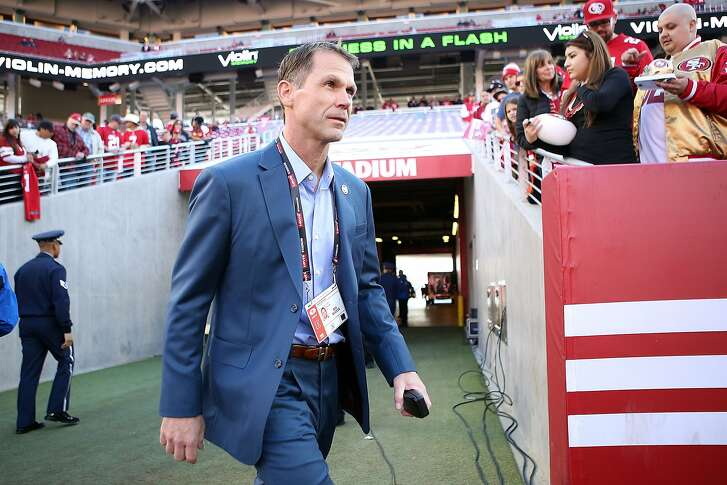 SANTA CLARA, CA - DECEMBER 28:  San Francisco 49ers General Manager Trent Baalke walks onto the field during pregame warm ups against the Arizona Cardinals at Levi's Stadium on December 28, 2014 in Santa Clara, California.  (Photo by Don Feria/Getty Images)