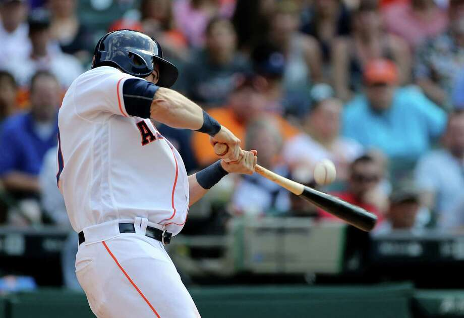 Tucker will get more opportunities at the plate with Gattis optioned to Corpus Christi. Photo: Elizabeth Conley, Houston Chronicle / © 2016 Houston Chronicle