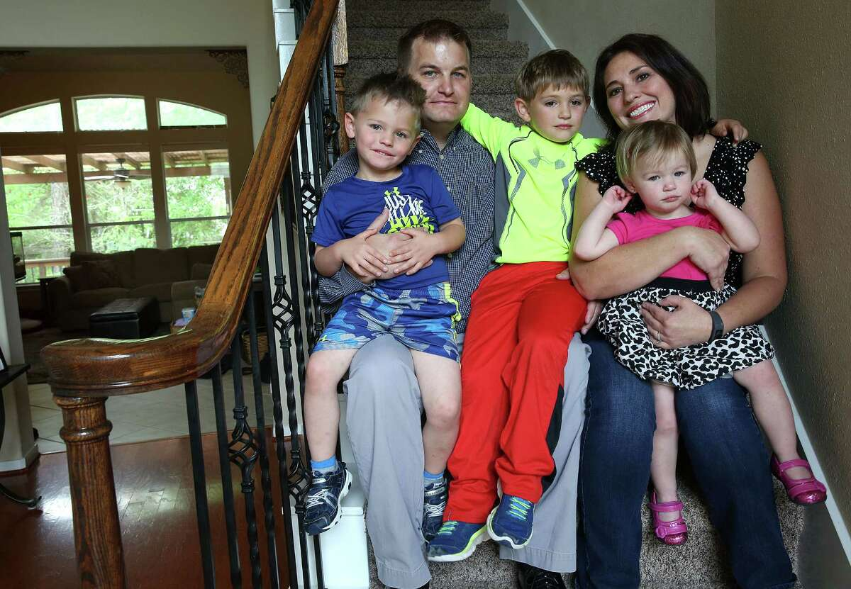 Shaun and Christie Conley of The Woodlands have three young children. The family was forced to turn to COBRA for health insurance and now pay $1,740 per month - more than their mortgage payment.