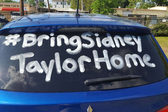 "While the search goes on for Sidney Taylor and his friend, Krislyn Gibson, Taylor's younger cousin Cathleen Bazaldua drives around Houston with ""#BringSidneyTaylorHome"" written in shoe polish across the rear window of her car.  She worries every time she hears about a body being found, she said."