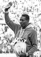 Bob Hayes won the gold medal in the 100-meter dash at the 1964 Tokyo Summer Olympics.