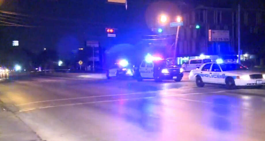 A pedestrian walking in the southbound lanes of Hillcroft near Windswept was struck and killed by the driver of a white Acura RSX at around 2:40 a.m. Photo: Metro Video