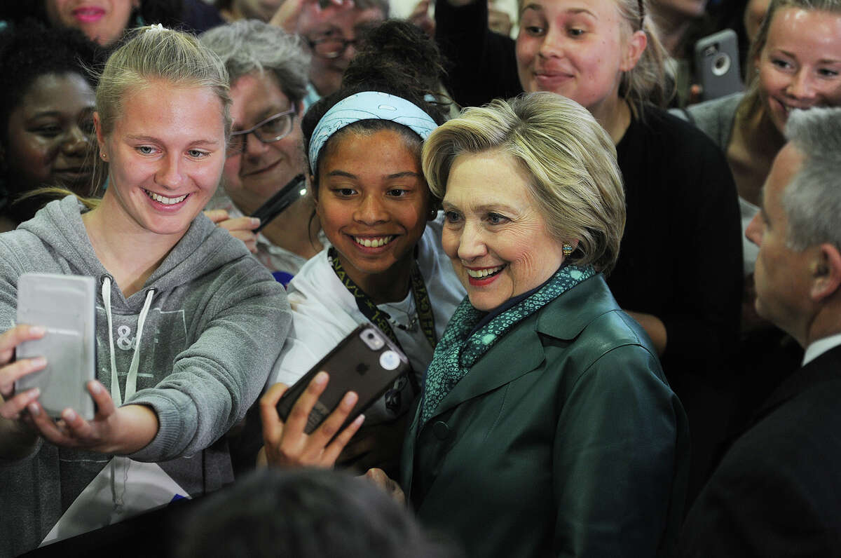 Hillary Clinton campaign rally at the Harvey Hubbell gymnasium at the University of Bridgeport in Bridgeport, Conn. on Sunday, April 24, 2016.