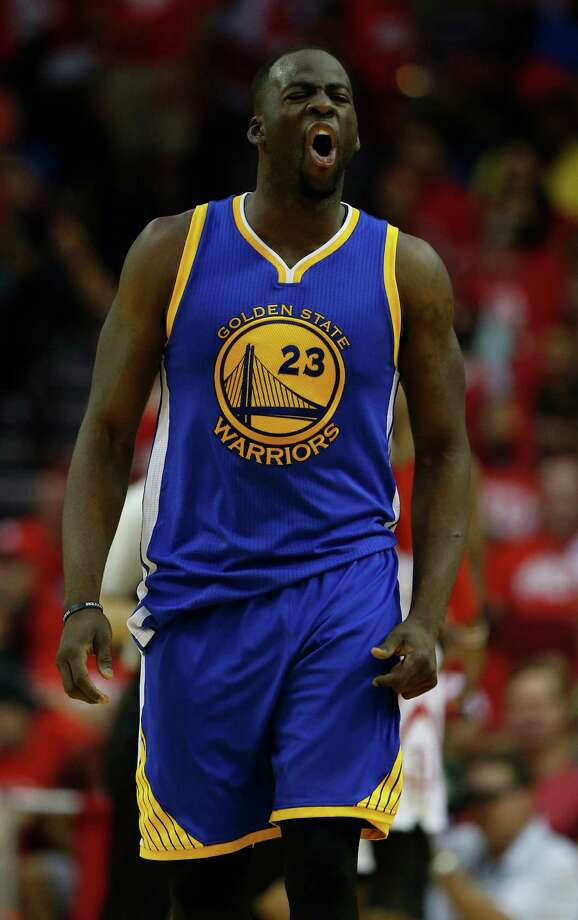 Warriors forward Draymond Green had an angry reaction to a reporter's question about the Tax Day floods in Houston. Photo: Karen Warren, Houston Chronicle / © 2016 Houston Chronicle