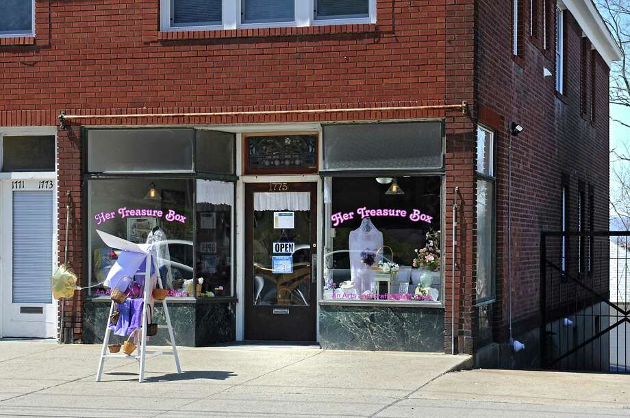 Exterior of Eyes Wide Open-Her Treasure Box on Van Vranken Ave. on Friday, April 15, 2016 in Schenectady, N.Y. The group called Eyes Wide Open has opened the arts and crafts thrift store along Van Vranken Avenue to benefit and bring attention to human trafficking. (Lori Van Buren / Times Union) Photo: Lori Van Buren / 10036209A