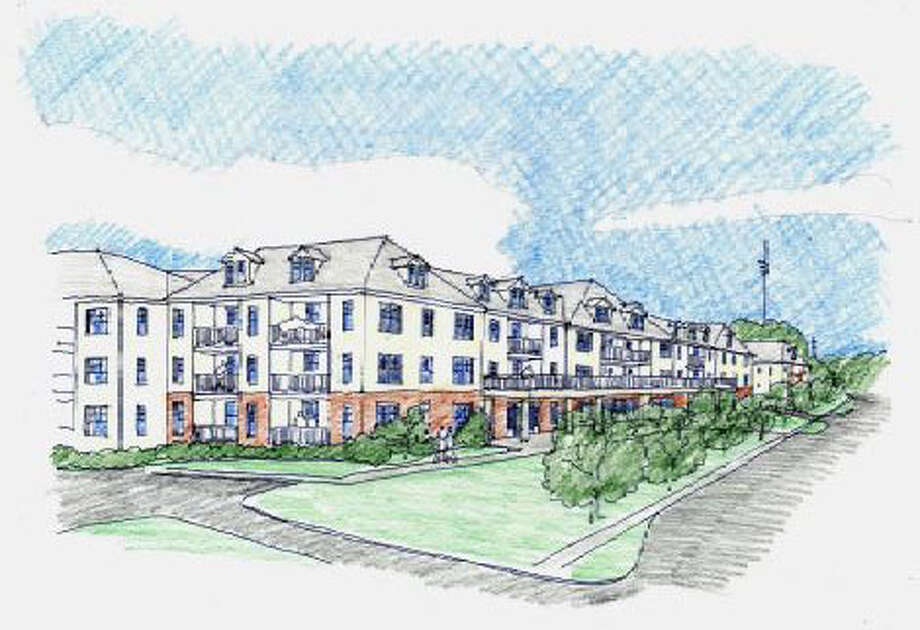 A rendering of the newly redesigned apartment complex called The Renaissance that is proposed for 777 and 763 Federal Road in Brookfield. The new design is three stories above ground and includes some first floor retail space. April 2016 Photo: Contributed Photo / Hearst Connecticut Media / The News-Times Contributed