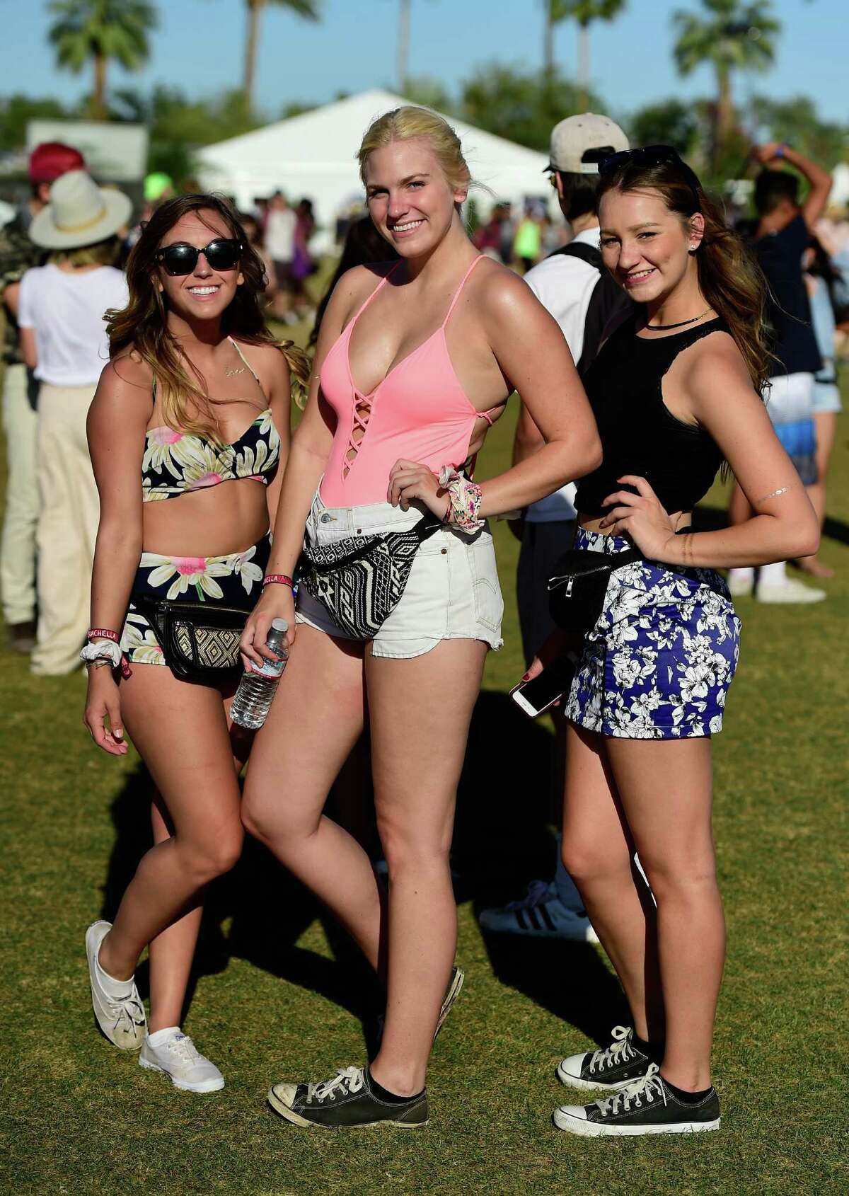 Once you buy tickets to Coachella, the real work begins - choosing the perfect festival outfit. Attendees to the California festival's second weekend show off what they came up with after possibly spending weeks agonizing over swimsuits, cutoff shorts, funny hats and long, flowery gowns. Click to see the most popular styles from weekend two.