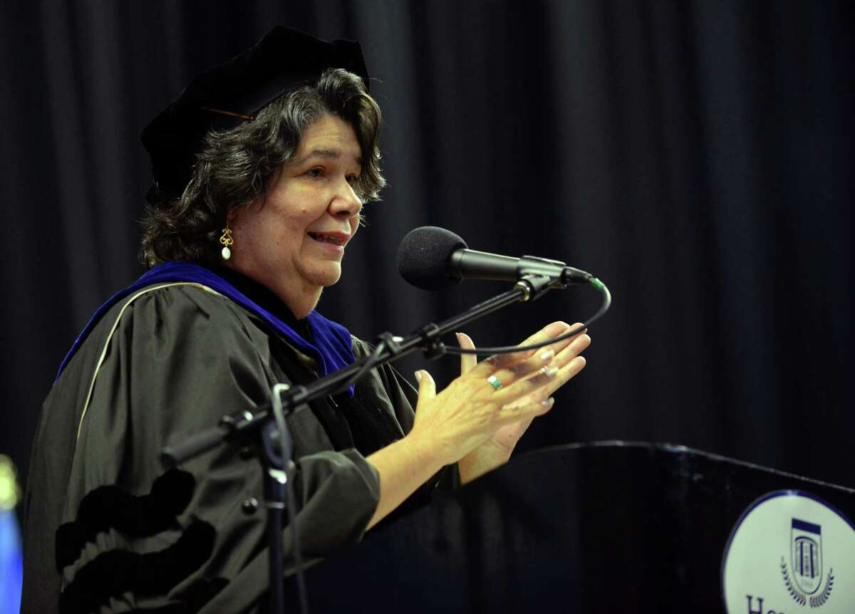 Housatonic Community College's 48th Annual Commencement Ceremony at the Webster Bank Arena in Bridgeport, Conn., on Thursday May 28, 2015. HCC Interim Provost Dr. Estela Lopez.