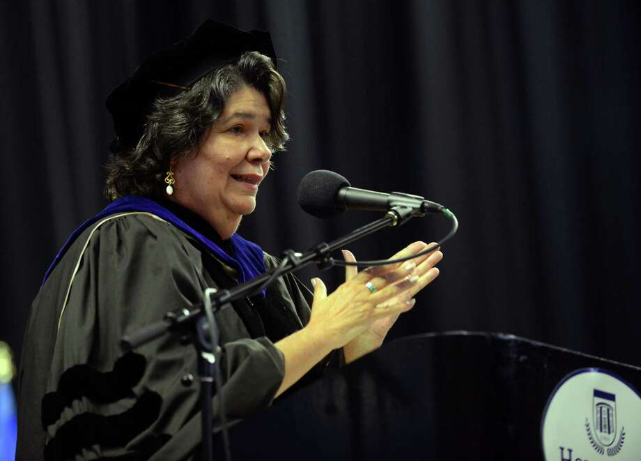 Housatonic Community College's 48th Annual Commencement Ceremony at the Webster Bank Arena in Bridgeport, Conn., on Thursday May 28, 2015. HCC Interim Provost Dr. Estela Lopez. Photo: Christian Abraham / Christian Abraham / Connecticut Post