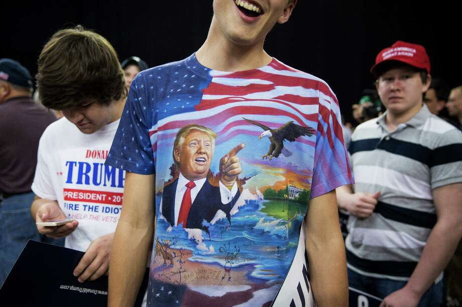 Timothy Gross, 17, waits with friends to see Donald Trump at the Pennsylvania Farm Show Complex and Expo Center in Harrisburg, Pa., Thursday, April 21. Photo: DAMON WINTER, NYT / NYTNS