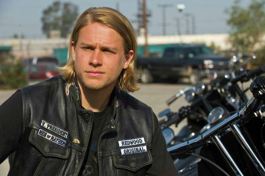 "Charlie Hunnam as Jackson in ""Sons of Anarchy,"" an FX Network show about bikers. He is scheduled to appear at Space City Comic Con over Memorial Day weekend. Photo: Ray Midshaw"