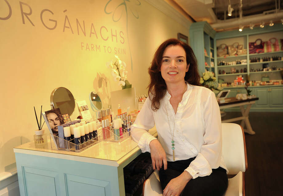 Siobhan Mckinley, owner of Organachs Farm to Skin, an organic and natural skin care and cosmetic boutique, which opened on March 1 of this year at 15 Post Road West in Westport, Conn. on Wednesday, April 20, 2016. Photo: Brian A. Pounds / Hearst Connecticut Media / Connecticut Post