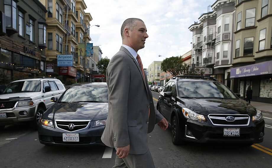 Gianpaolo Paterlini, the wine director at both Acquerello and 1760 restaurants in S.F., walks between the two restaurants. Photo: Liz Hafalia, The Chronicle