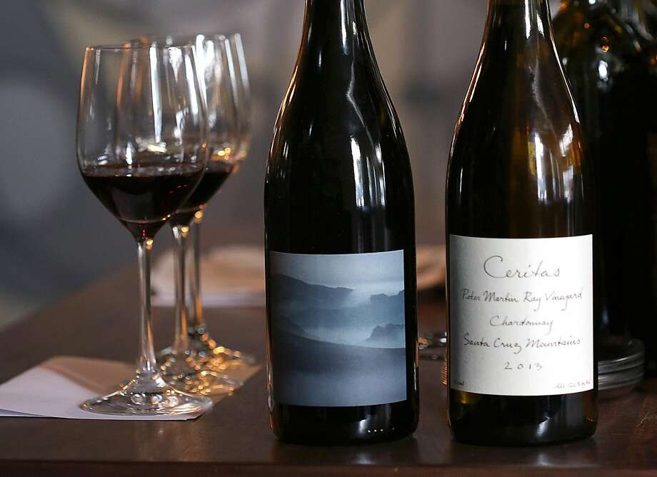 Wines from Arnot-Roberts (left) and Ceritas at 1760 restaurant in S.F. Photo: Liz Hafalia, The Chronicle
