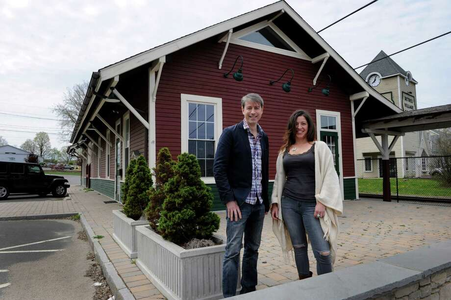 Christopher Sanzeni, 42, and Lisa Tassone, 43, are co-owners of a new brew pub they hope open in the former Bethel train station. Photo Monday, April 25, 2016. Photo: Carol Kaliff / Hearst Connecticut Media / The News-Times