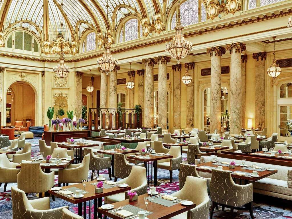 pretend youre dining with the queen at the palace hotels elegant garden court