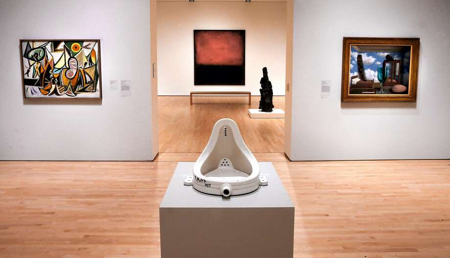 "Marcel Duchamp, ""Fountain"" at the newly completed San Francisco Museum of Modern Art addition in San Francisco, California as seen on Fri. April 22, 2016. Photo: Michael Macor, The Chronicle"
