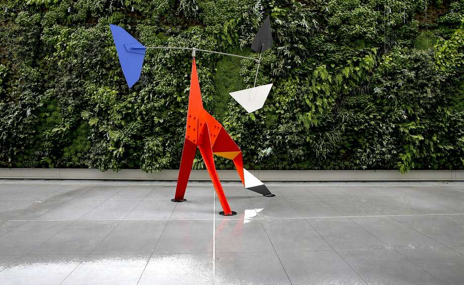 """SFMOMA's third-floor terrace is home to the living wall and """"Big Crinkly"""" by Alexander Calder. Photo: Michael Macor, The Chronicle"""