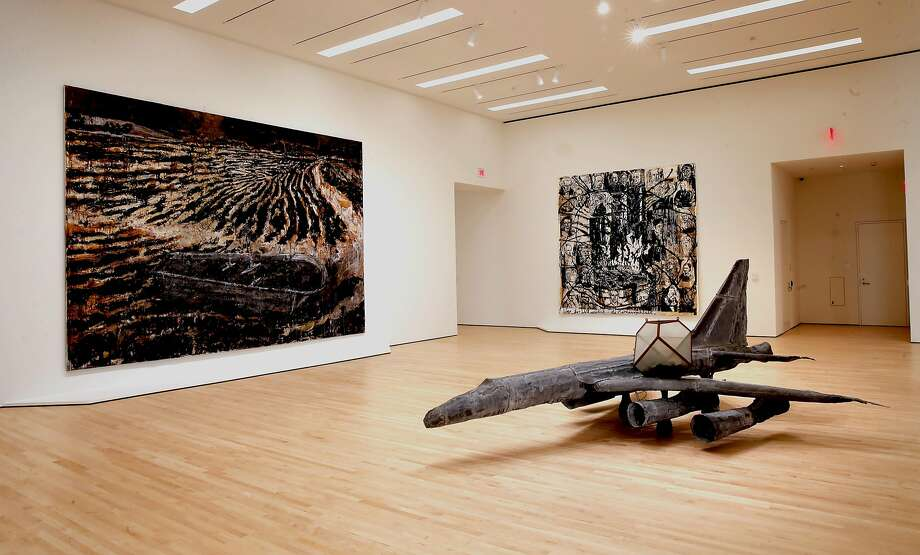 "An aircraft piece by Anselm Kiefer titled ""Melancholia,"" 1990-1991 at the San Francisco Museum of Modern Art. Photo: Michael Macor, The Chronicle"