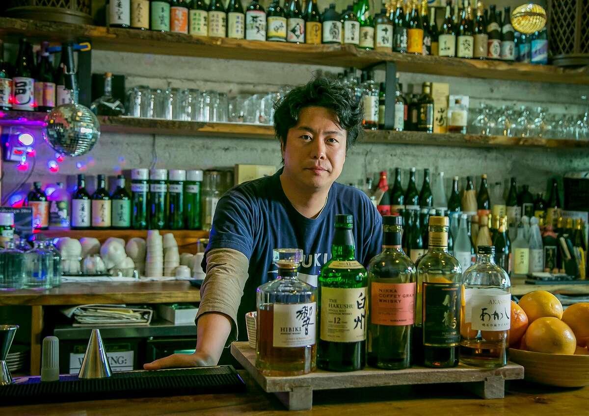 Bar manager Washi Washino at Ippuku in Berkeley, Calif., is seen on April 24th, 2016.