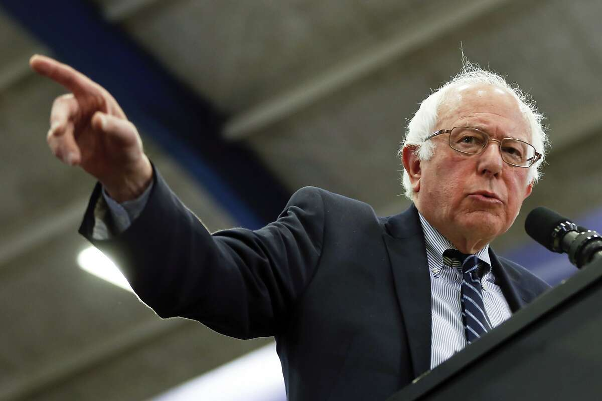 Democratic presidential candidate Sen. Bernie Sanders, I-Vt., speaks during a campaign rally at Fitzgerald Fieldhouse on the University of Pittsburgh campus, Monday, April 25, 2016, in Pittsburgh. (AP Photo/Keith Srakocic)