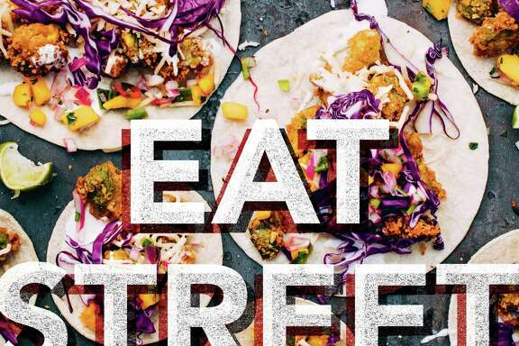 Fried Avocado Tacos with Tequila Lime Crema from EAT STREET Â 2016 by John Carruthers, John Scholl and Jesse Valenciana, Running Press, a member of the Perseus Books Group.