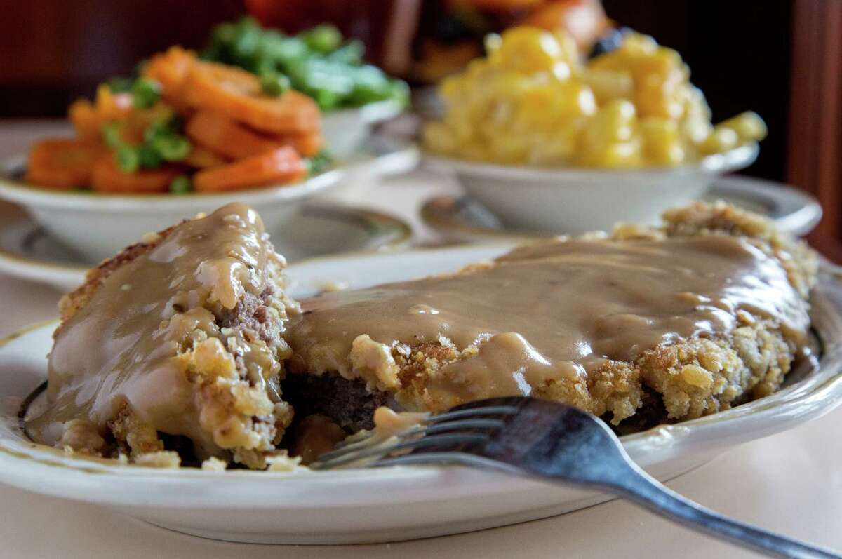 Chicken-fried steak, from Cleburne Cafeteria, is seen Wednesday, April 13, 2016, in Houston. ( Jon Shapley / Houston Chronicle )