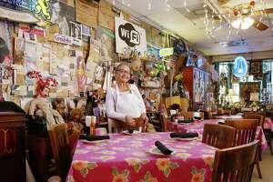 Irma Galvan, poses for a portrait at Irma's Original, Thursday, April 14, 2016, in Houston.  ( Jon Shapley / Houston Chronicle )