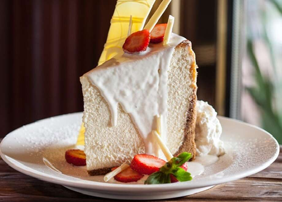 New York-style cheesecake at Pappas Bros. Steakhouse in downtown Houston.
