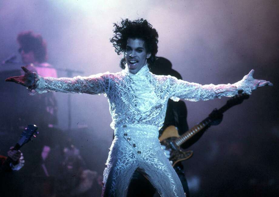 : Prince performs live at the Fabulous Forum on Feb. 19, 1985 in Inglewood, California. Six of Prince's albums reached the Billboard Top 10 in the '80s. Photo: Michael Ochs Archives /Getty / Michael Ochs Archives