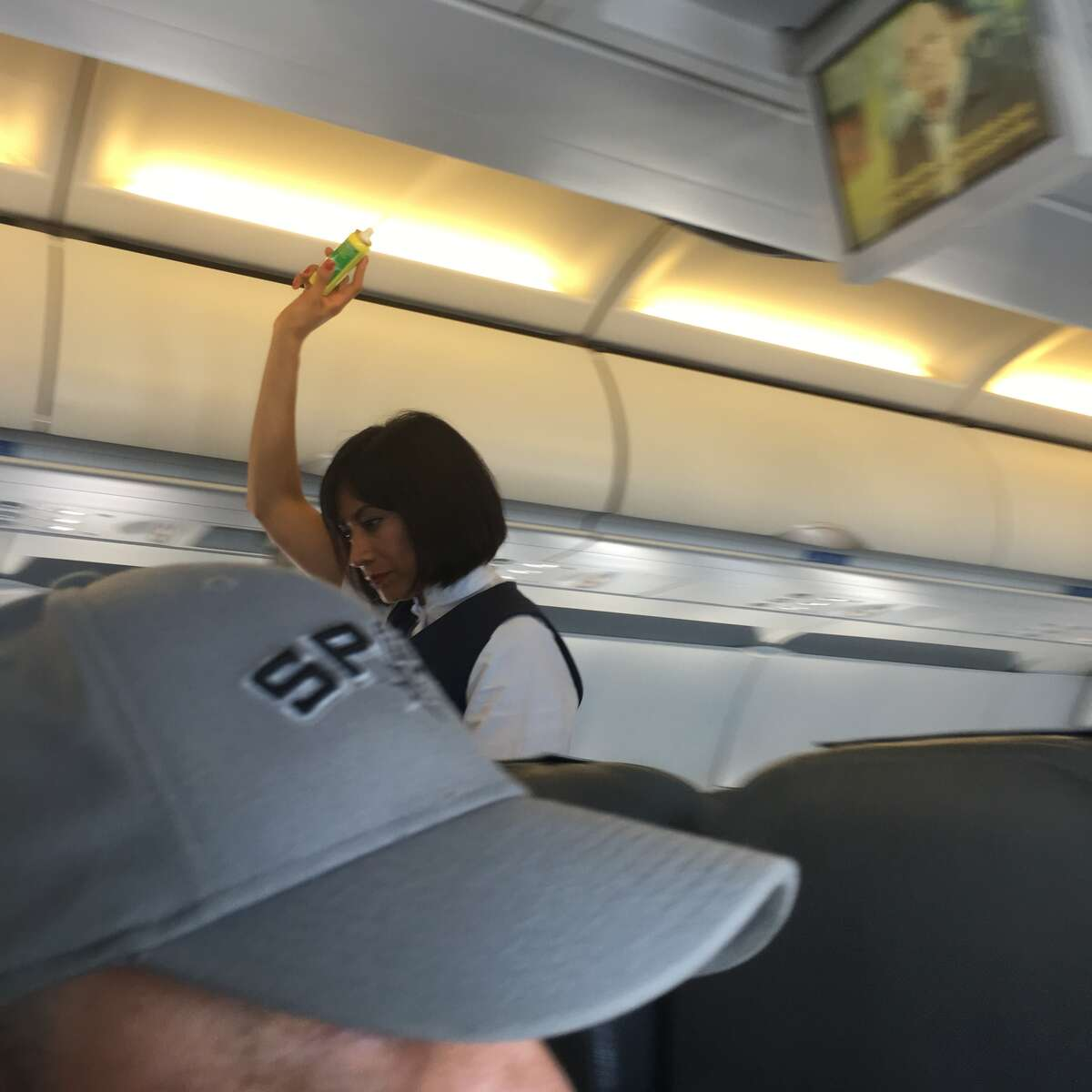 1. Pesticides are sprayed into the vents of flights entering Cuba Stewardesses advised passengers the crew would spray the cabin as the plane descended, but assured it was not harmful to humans as they walked through the aisle, misting it into the air.