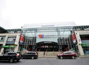 Exterior view of the Times Union Center on Thursday, April 7, 2016, in Albany, N.Y.  (Paul Buckowski / Times Union) ORG XMIT: MER2016042520013415